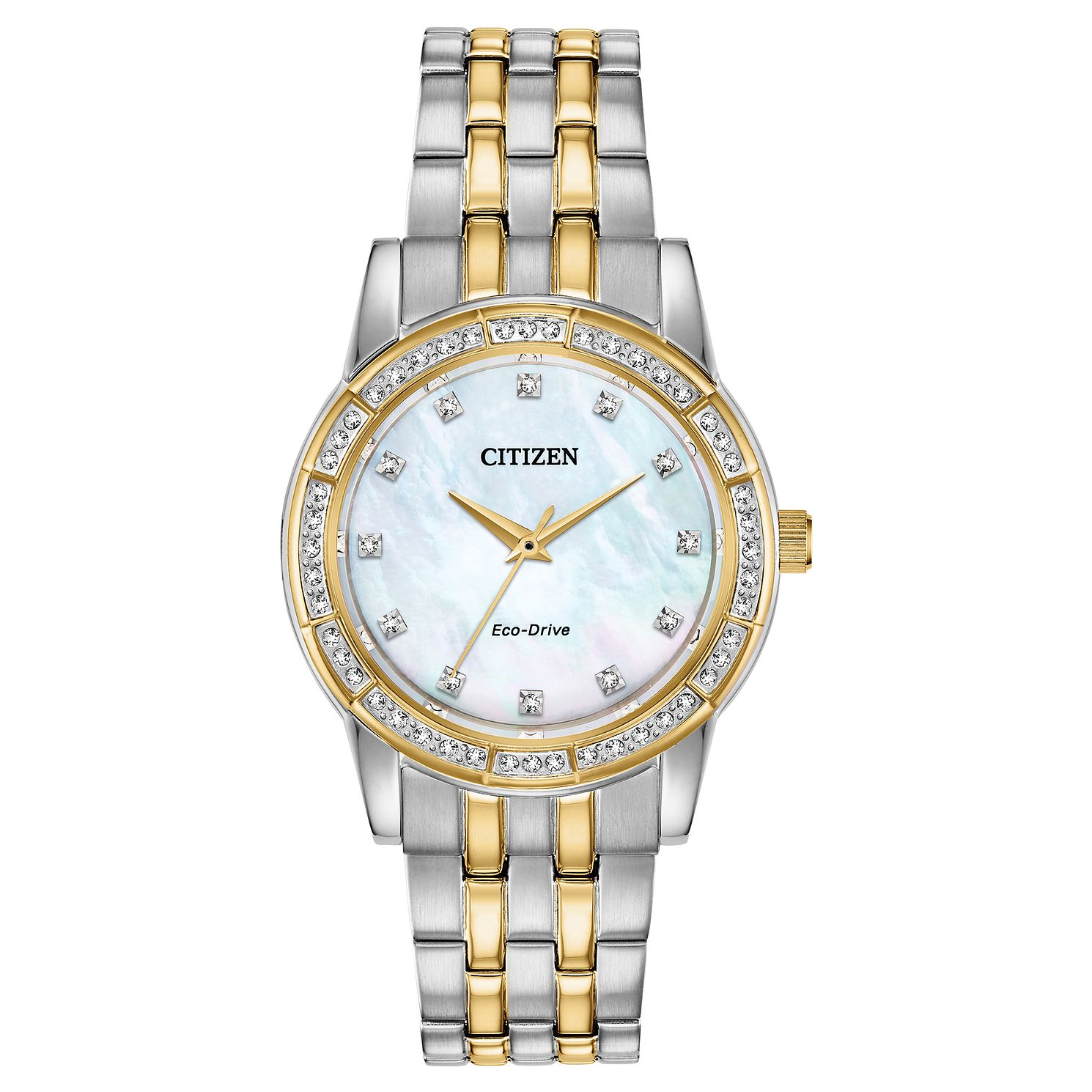 Citizen Eco-Drive Silhouette Crystal Two Tone Bracelet Watch - Product number 5234050
