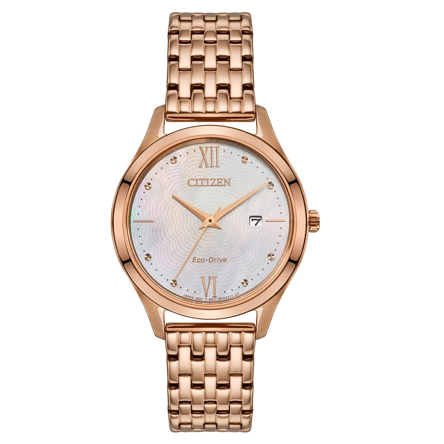 Citizen Eco-Drive Ladies' Rose Gold Tone Bracelet Watch - Product number 5234271