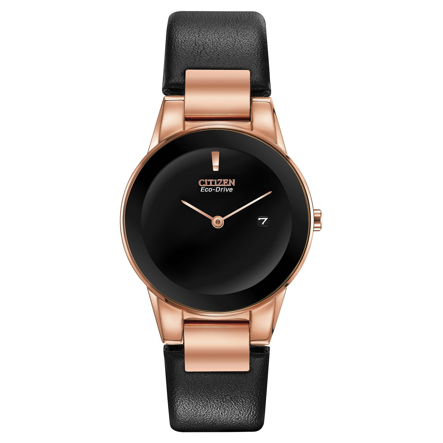 Citizen Eco-Drive Axiom Ladies' Black Leather Strap Watch - Product number 5235464