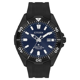 Citizen Eco-Drive Promaster Marine Black Resin Strap Watch - Product number 5235529