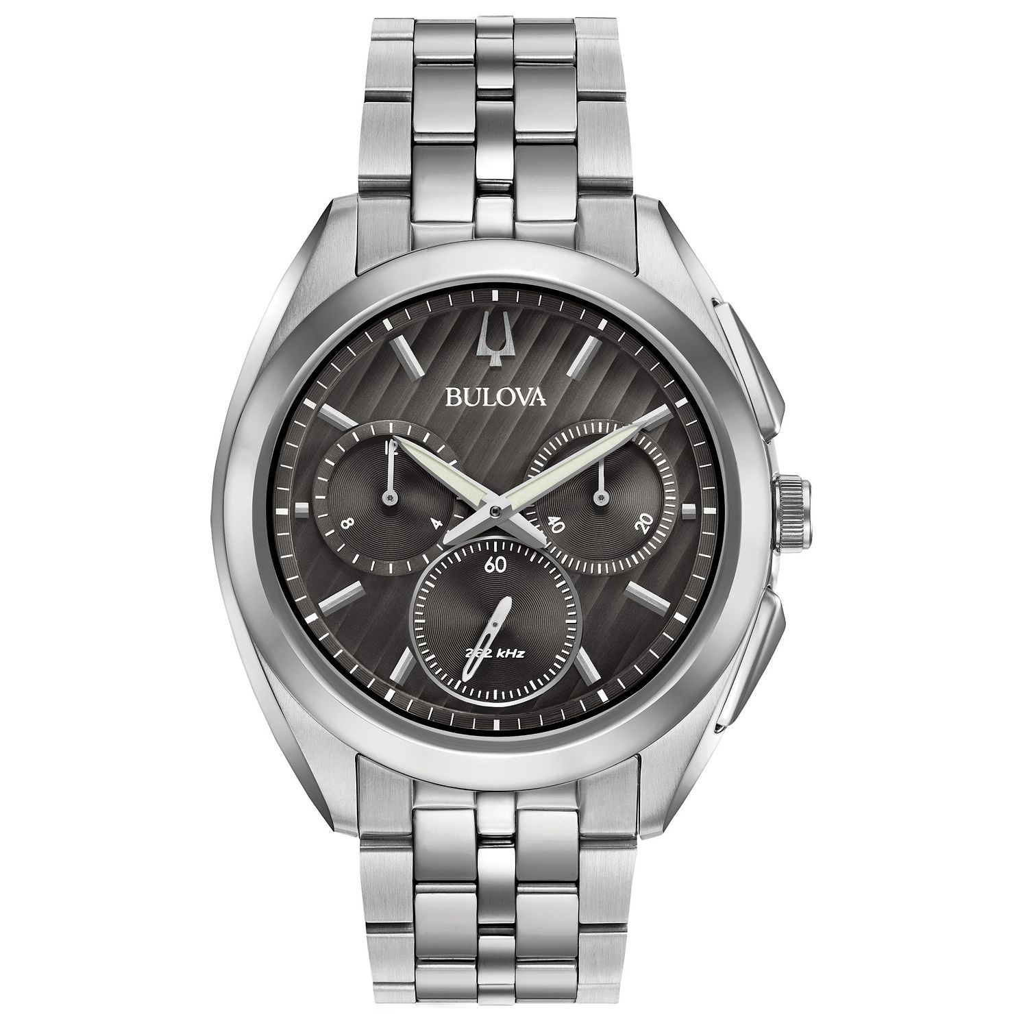 Bulova CURV Chronograph Men's Stainless Steel Bracelet Watch - Product number 5235723