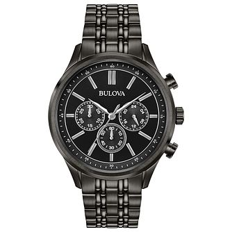 Bulova Chronograph Men's Black PVD Plated Bracelet Watch - Product number 5235758
