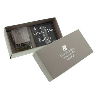 Amore Father Of The Groom Glass & Coaster Boxed Set - Product number 5236037