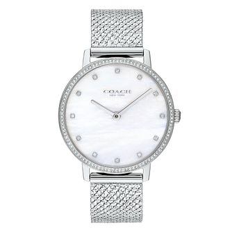 Coach Audrey Ladies' Stainless Steel Mesh Bracelet Watch - Product number 5236932