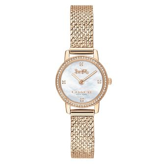 Coach Audrey Ladies' Champagne Gold IP Mesh Bracelet Watch - Product number 5236975