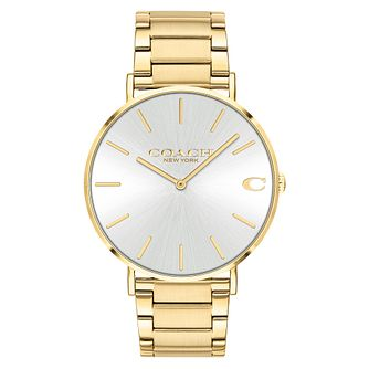 Coach Charles Men's Gold Tone IP Bracelet Watch - Product number 5237009