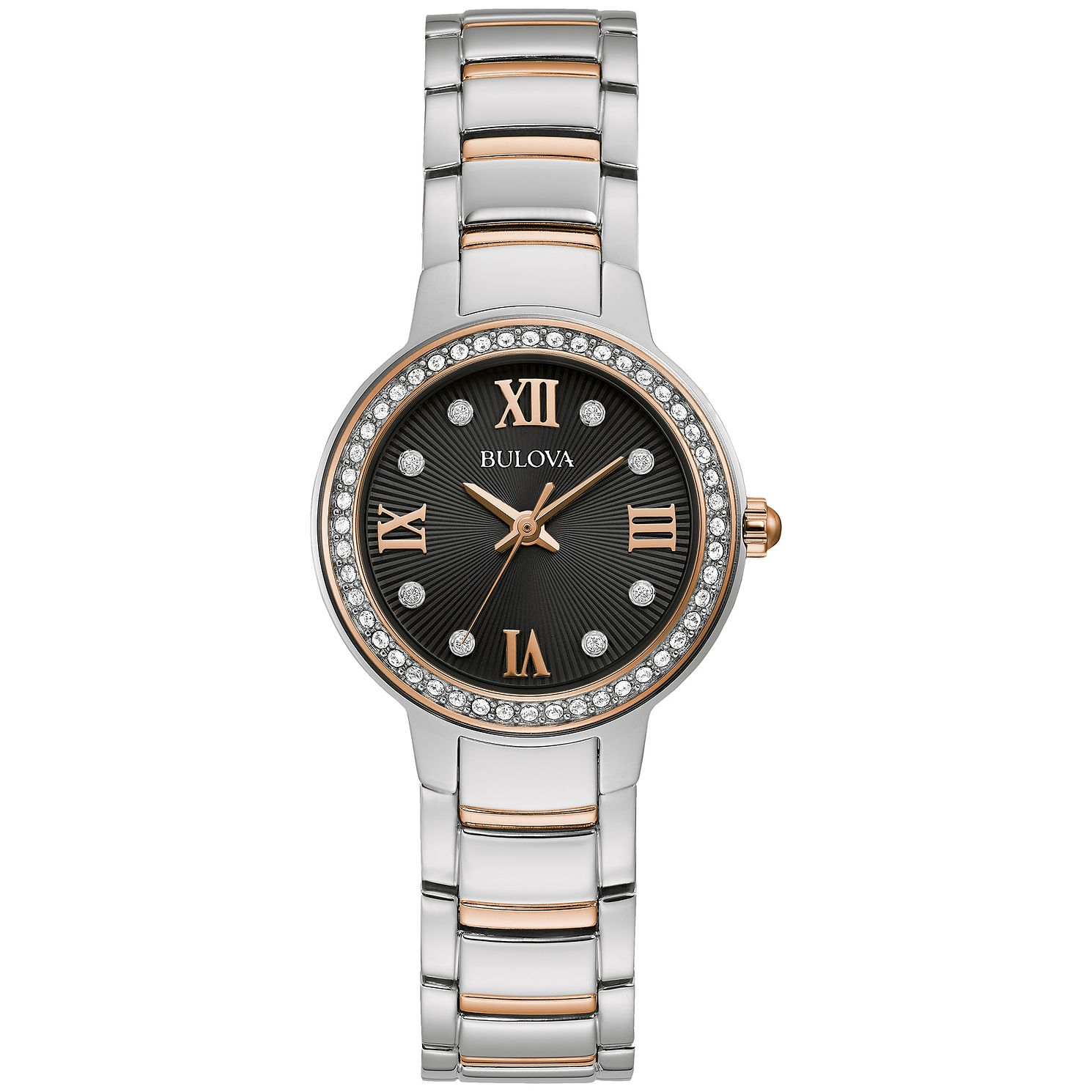 Bulova Crystal Ladies' Two Tone Bracelet Watch - Product number 5237068