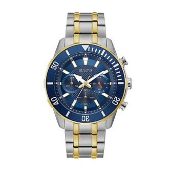 Bulova Sport Chronograph Men's Two Tone Bracelet Watch - Product number 5237343