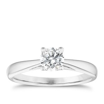 9ct White Gold 1/2ct Diamond Solitaire Ring - Product number 5238889