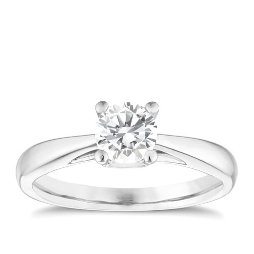 9ct white gold 2/3ct solitaire diamond ring - Product number 5239192