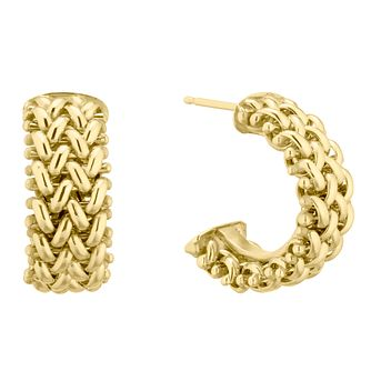 9ct Yellow Gold Multiple Link Hoop Earrings - Product number 5241375