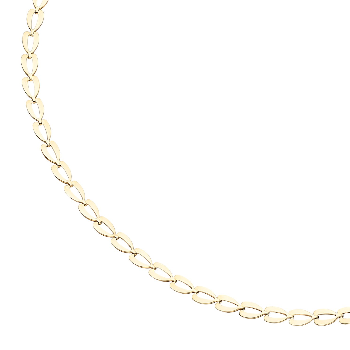 9ct Yellow Gold Flat Link Necklace - Product number 5241685