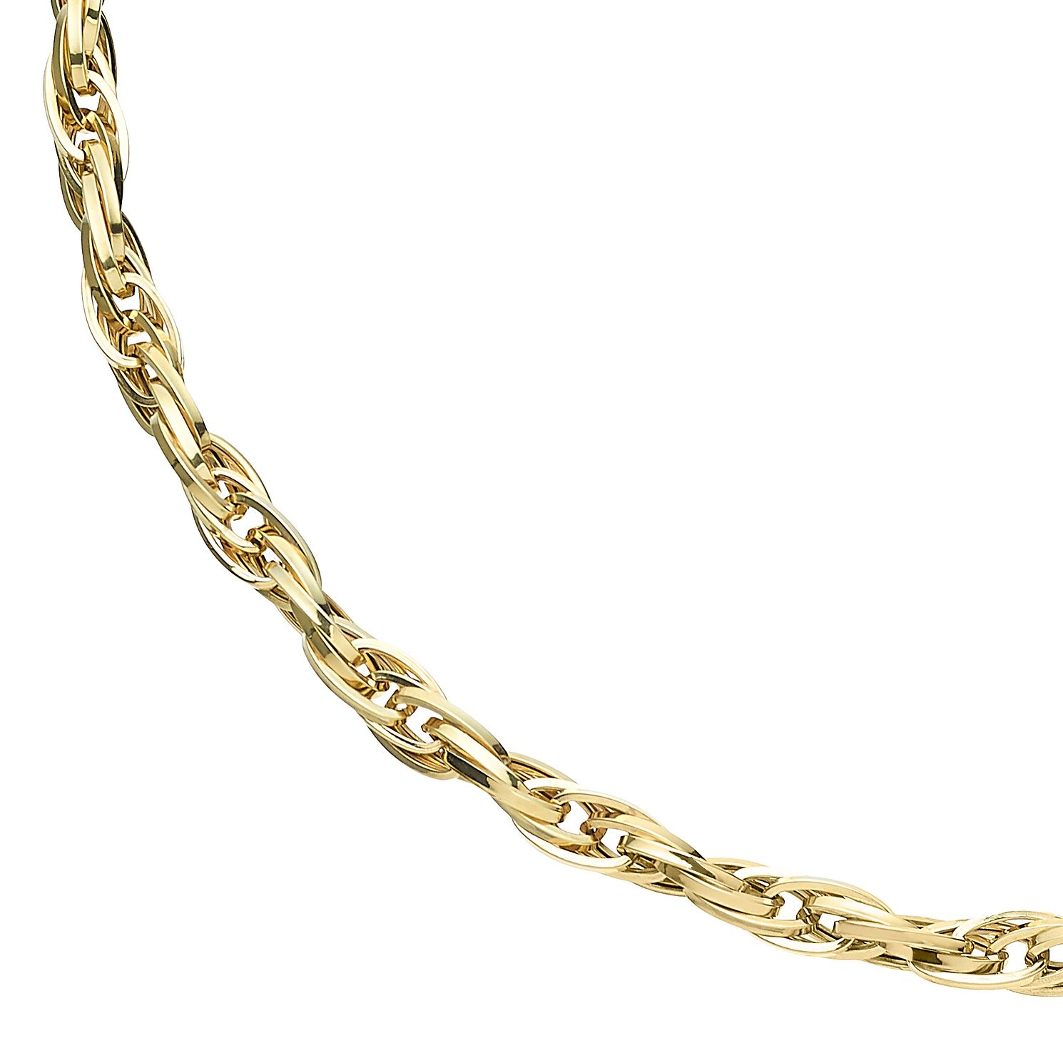 9ct Yellow Gold Multiple Twist Chain Necklace - Product number 5241693