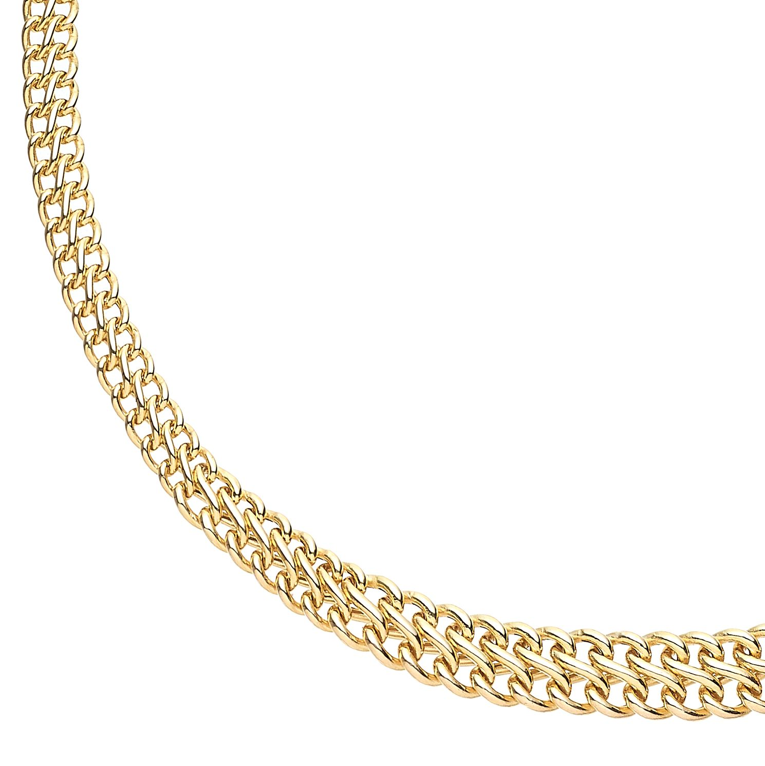 9ct Yellow Gold Double Curb Chain Necklace - Product number 5241707