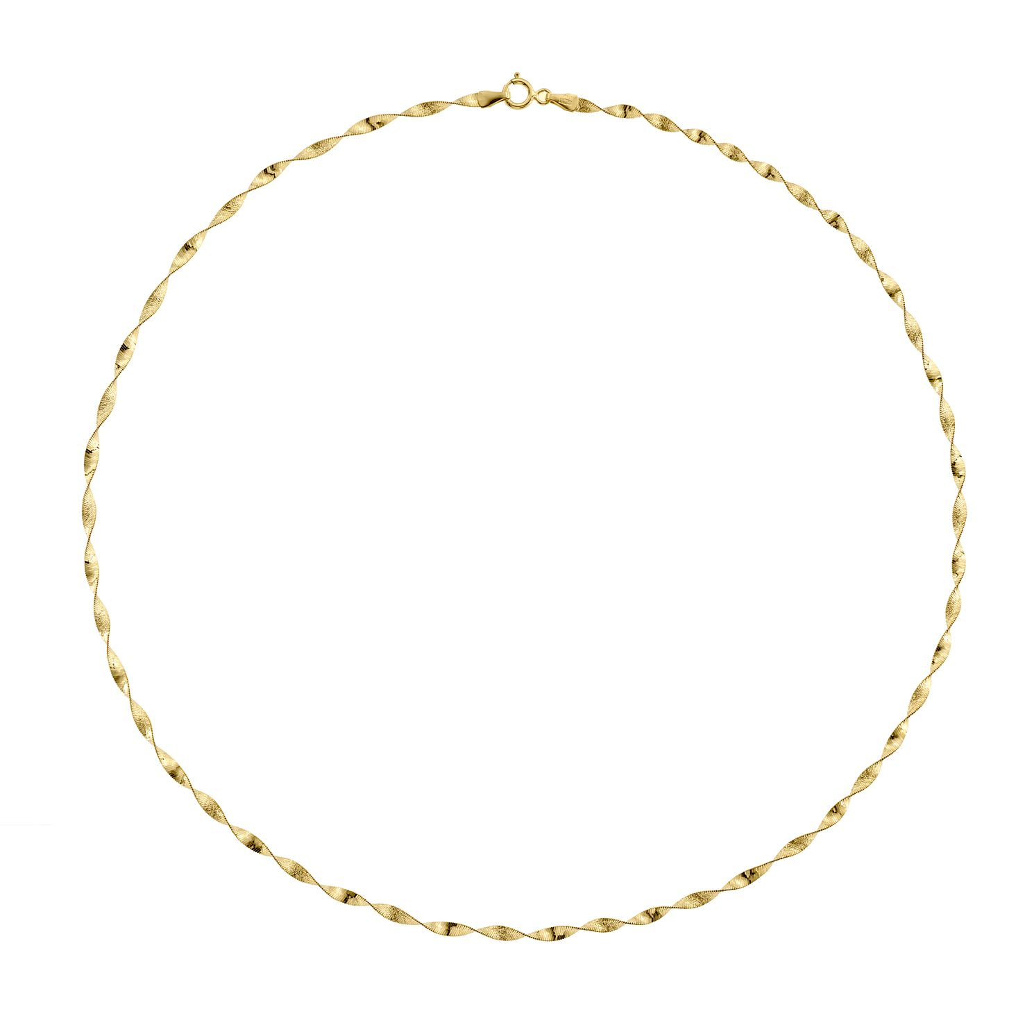 9ct Yellow Gold Sparkle Twist Necklace - Product number 5241715