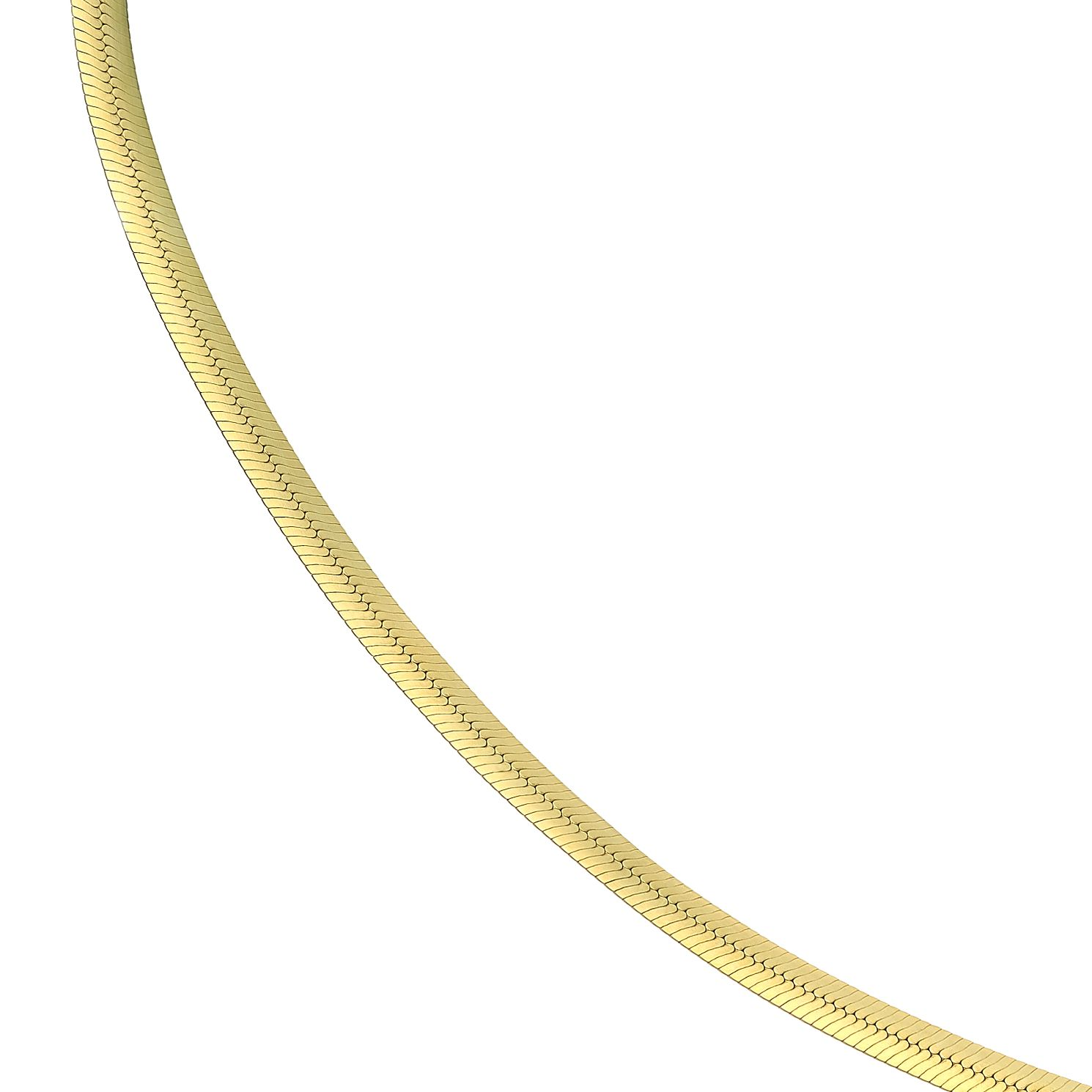 9ct Yellow Gold Flat Snake Chain Necklace - Product number 5241723