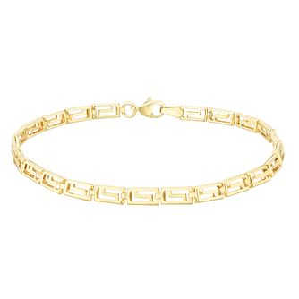 9ct Yellow Gold Greek Key Bracelet - Product number 5241804