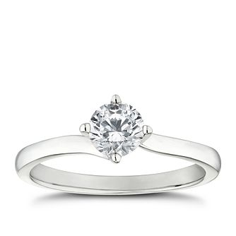 Platinum 1/2ct Diamond Solitaire 4 Claw Ring - Product number 5242290