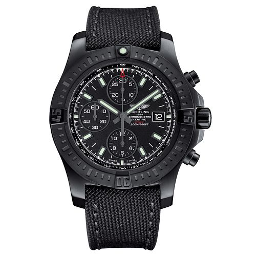 Breitling Colt Chronometre Men's IP Case Black Strap Watch - Product number 5242932