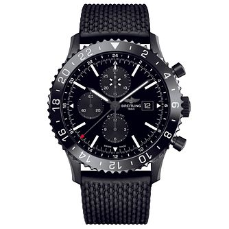 Breitling Chronoliner Men's Black Rubber Strap Watch? - Product number 5242940