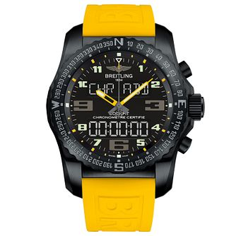 Breitling Professional Cockpit B50 Men's Yellow Strap Watch - Product number 5242959