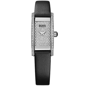 BOSS Ladies' Stainless Steel Stone Set Strap Watch - Product number 5245427