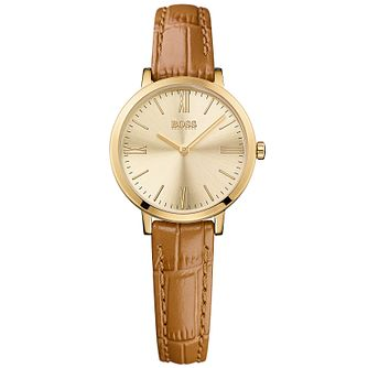 Hugo Boss Ladies' Gold Plated Strap Watch - Product number 5245478