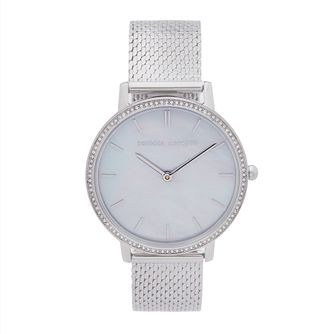 Rebecca Minkoff Major Diamond Silver Tone Bracelet Watch - Product number 5246121