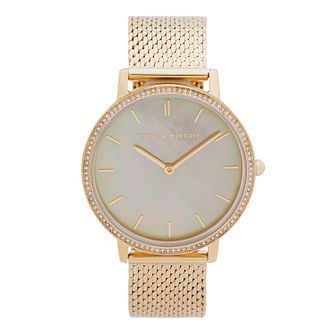 Rebecca Minkoff Major Ladies' Gold Tone Bracelet Watch - Product number 5246202