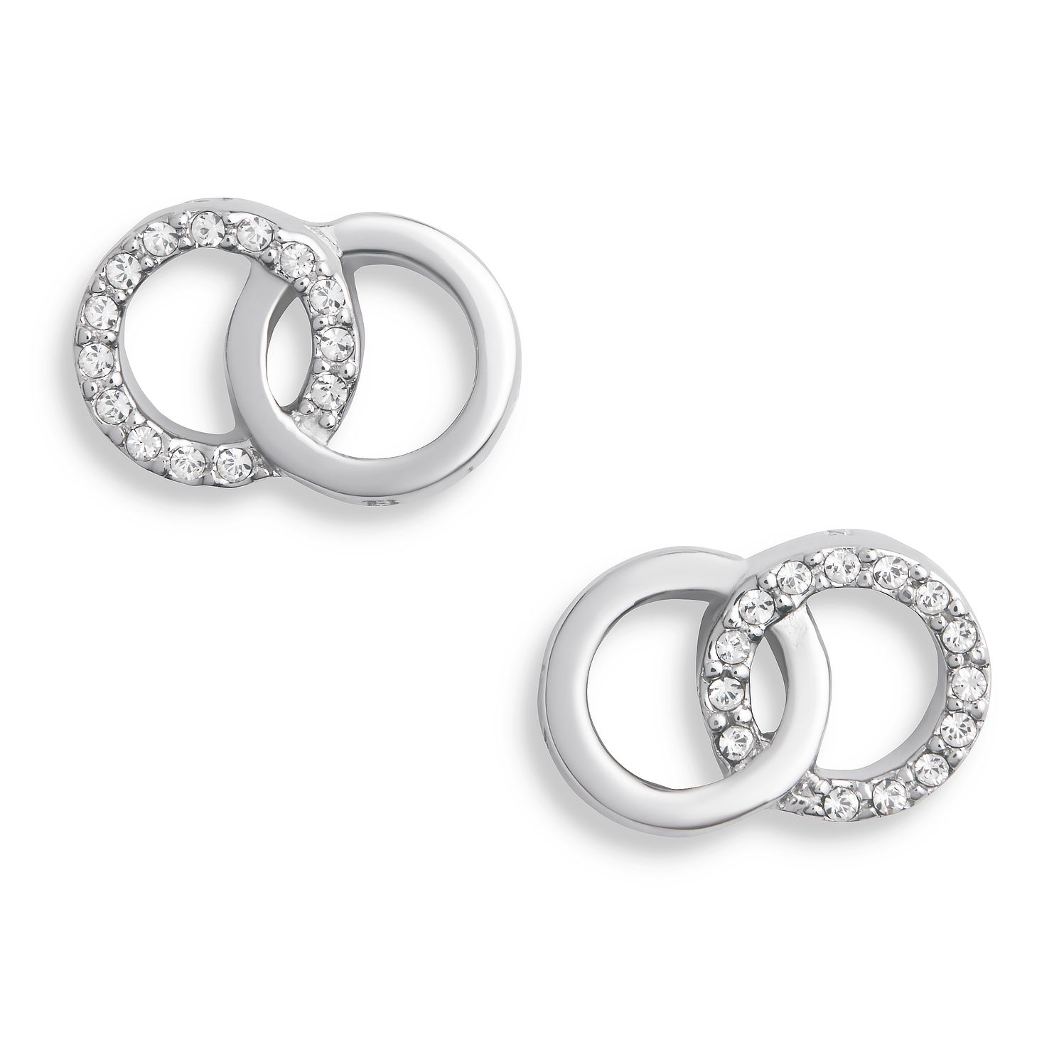Olivia Burton Bejewelled Interlink Silver Stud Earrings - Product number 5247330