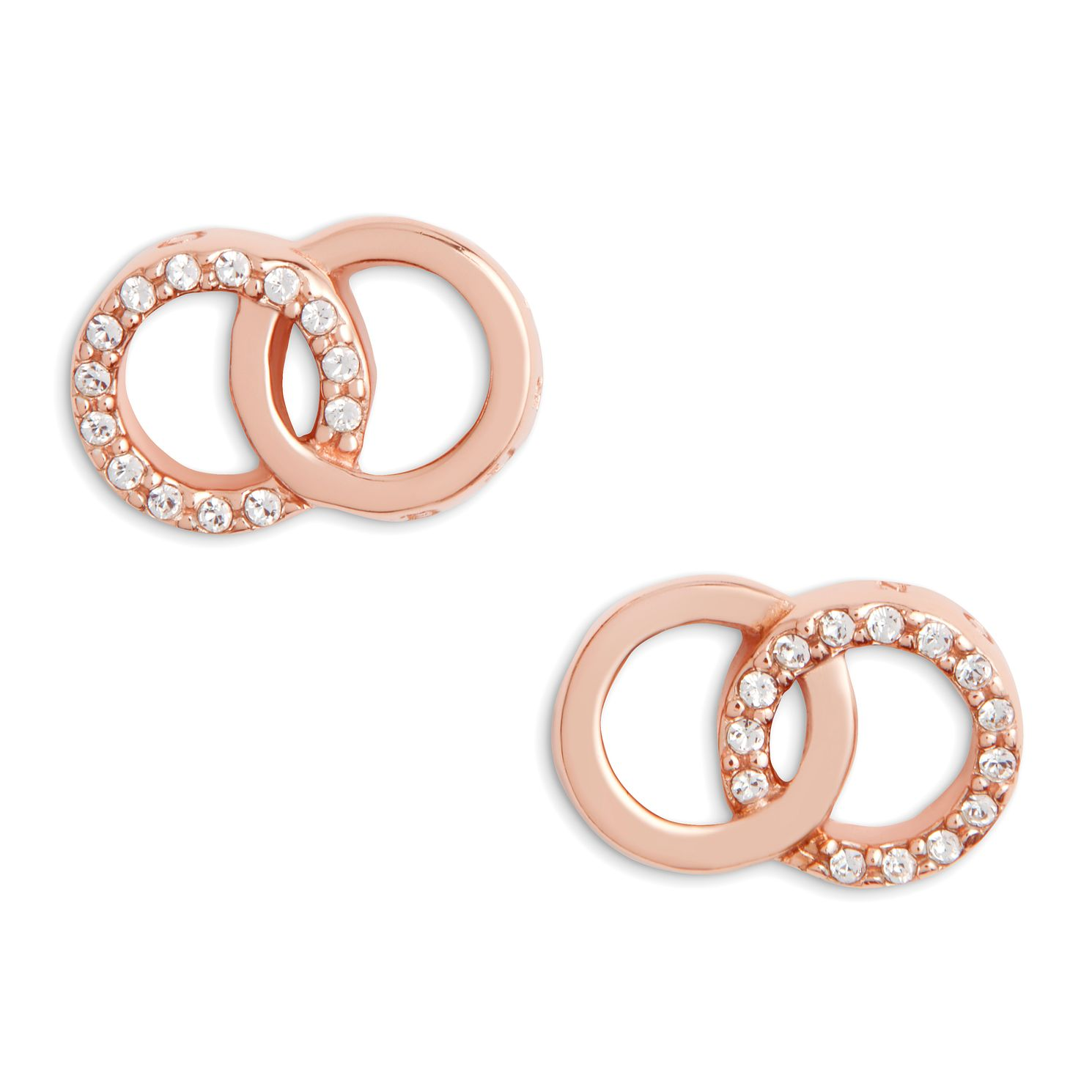 Olivia Burton Classics Interlink Rose Gold Tone Earrings - Product number 5247365