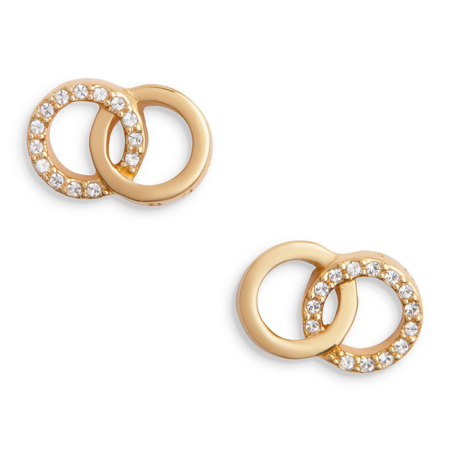 Olivia Burton Bejewelled Interlink Gold Tone Stud Earrings - Product number 5247438