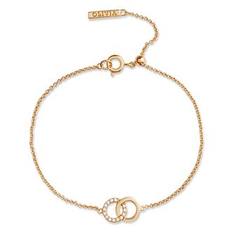 Olivia Burton Bejewelled Interlink Yellow Gold Tone Bracelet - Product number 5247810
