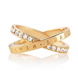 Olivia Burton Classics Interlink Gold Tone Crystal Ring - Product number 5248094