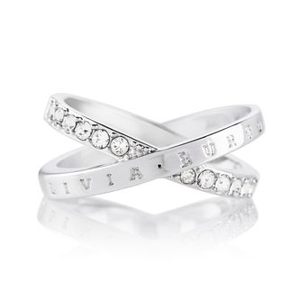 Olivia Burton Classics Interlink Silver Crystal Ring - Product number 5248183