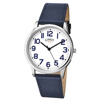 Men's Limit Blue Leather Strap Watch - Product number 5248353