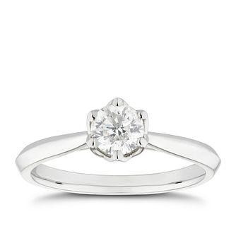 Platinum 1/2ct Diamond Solitaire Ring - Product number 5249651