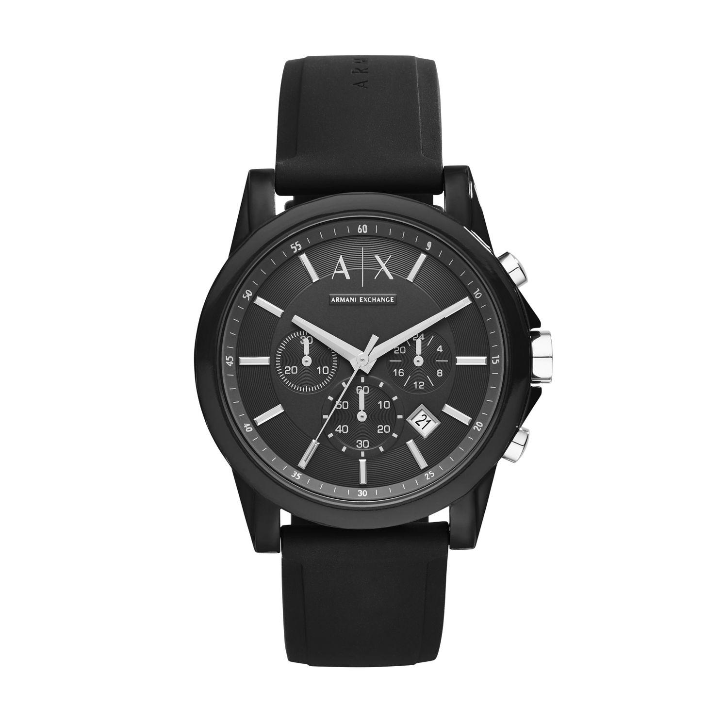 Armani Exchange Men's Black Silicone Strap Watch - Product number 5249767