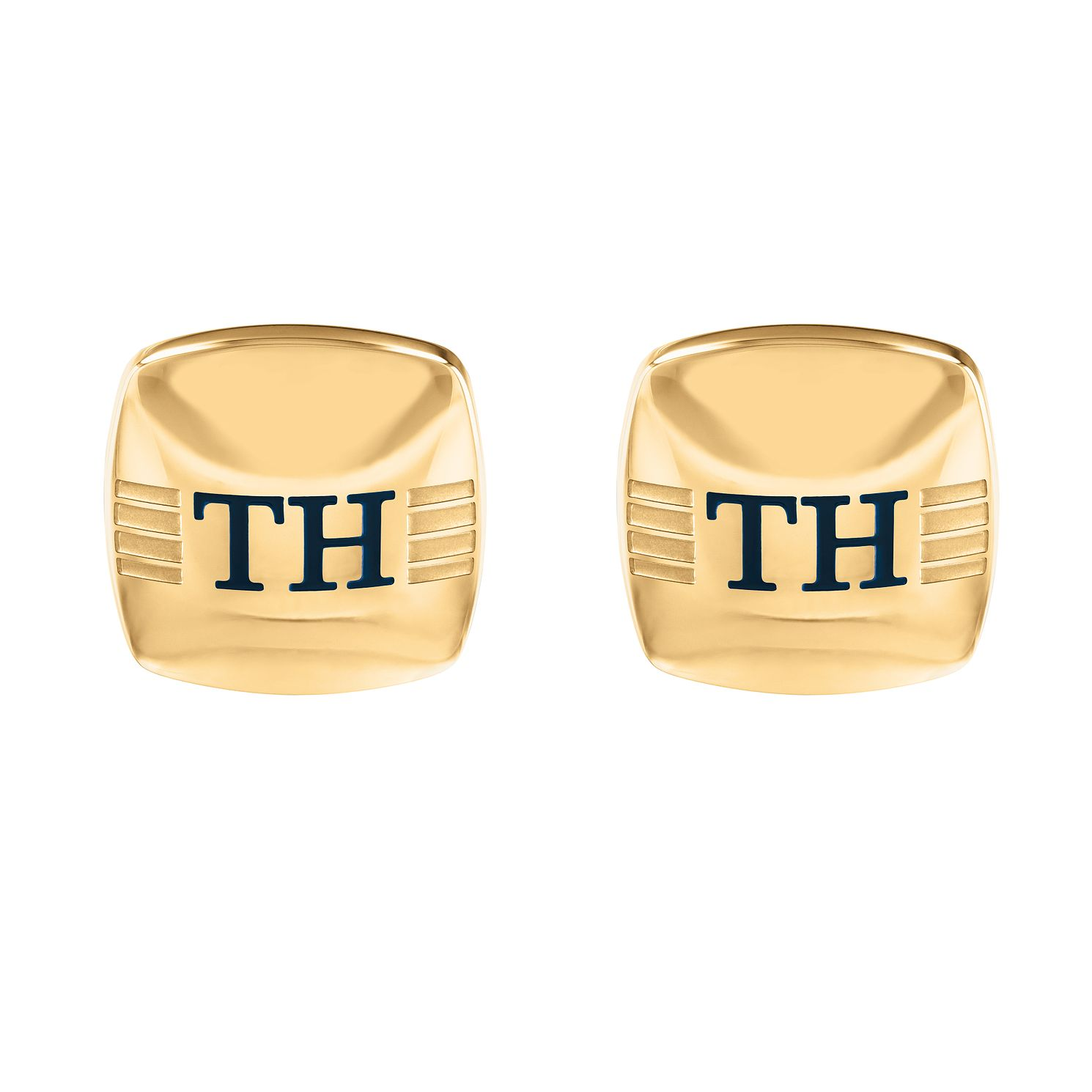 Tommy Hilfiger Rounded Square Yellow Gold Plated Cufflinks - Product number 5250749