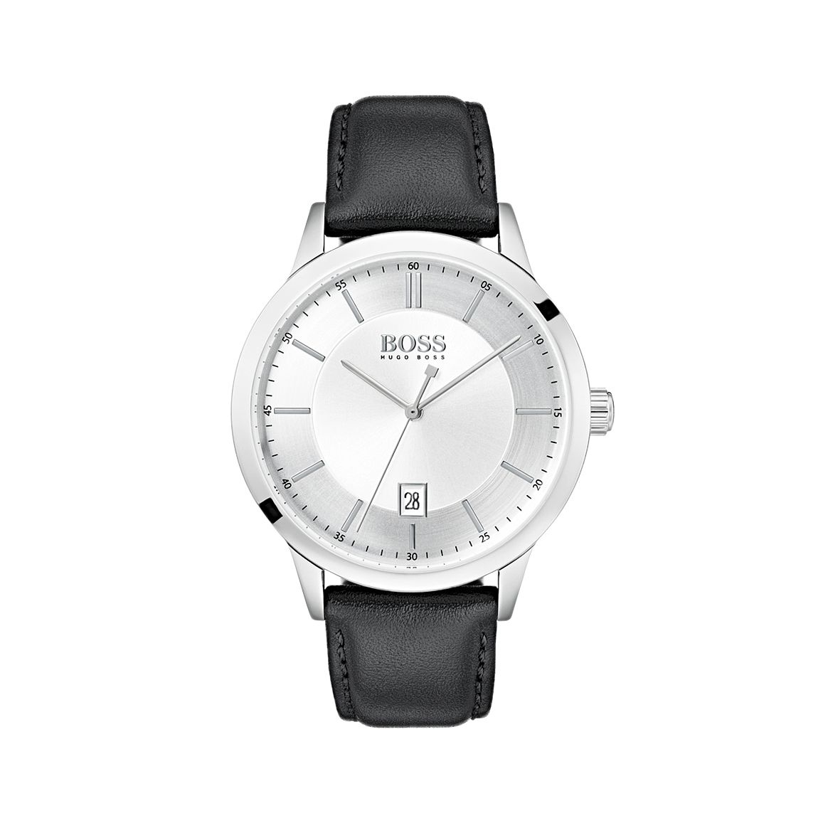 BOSS Officer Men's Black Leather Strap Watch - Product number 5251508