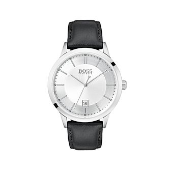 BOSS Men's Black Leather Strap Watch - Product number 5251508