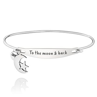 Chamila Sterling Silver To The Moon And Back ID Bangle S/M - Product number 5252504
