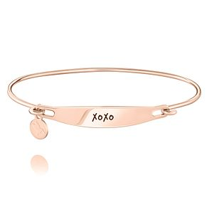 Chamila XOXO Rose Gold Electroplated ID Bangle S/M - Product number 5252628