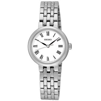 Seiko Ladies' White Dial Stainless Steel Bracelet Watch - Product number 5252660