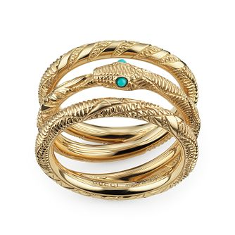 Gucci Ouroboros 18ct Yellow Gold Ring - Size N - Product number 5253357