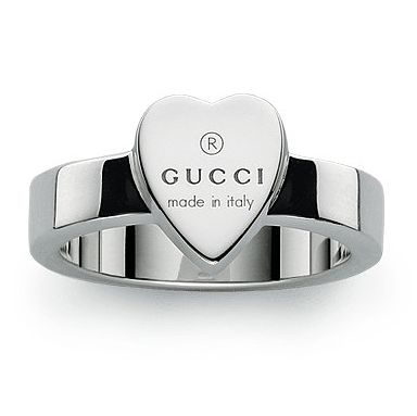 8939fb05f Gucci Trademark Engraved Heart Silver Ring - Size M - Product number  5253462. Gucci Jewellery