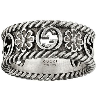 Gucci Interlocking G Flower Silver Ring - Size K - Product number 5253675