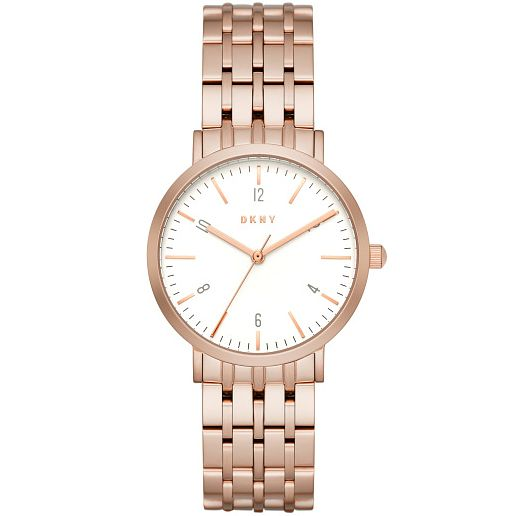 DKNY Ladies' Rose Gold Plated Bracelet Watch - Product number 5253799
