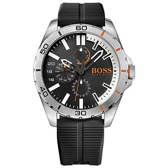 Boss Orange Berlin Men's Black Silicone Strap Watch - Product number 5254035