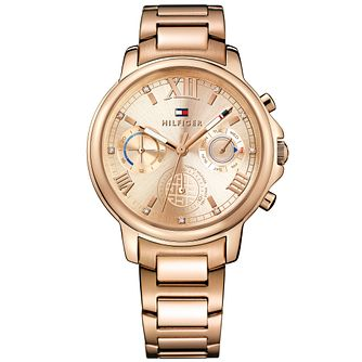 Tommy Hilfiger Ladies' Rose Gold Plated Bracelet Watch - Product number 5254396